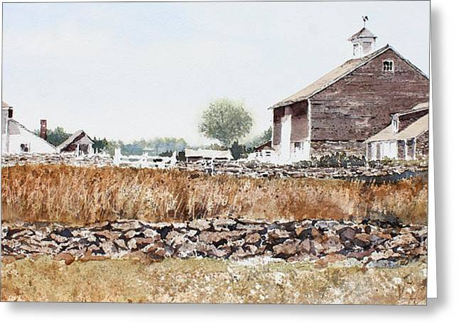 Rural Maine Greeting Card by Monte Toon