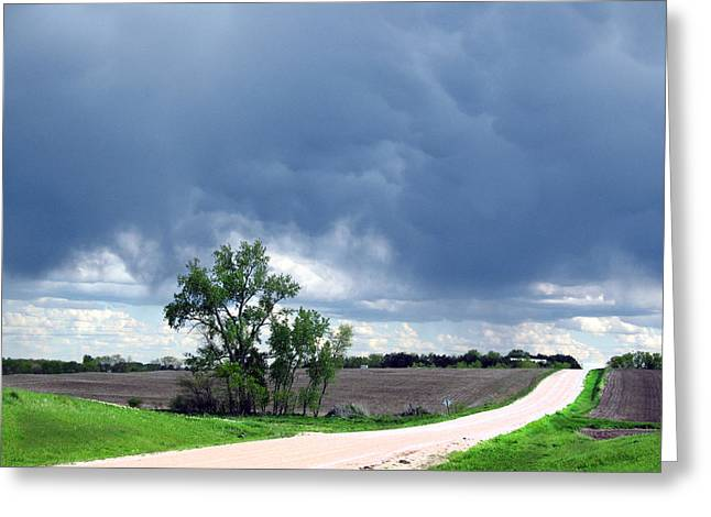 Greeting Card featuring the photograph Rural Nebraska by Tyler Robbins