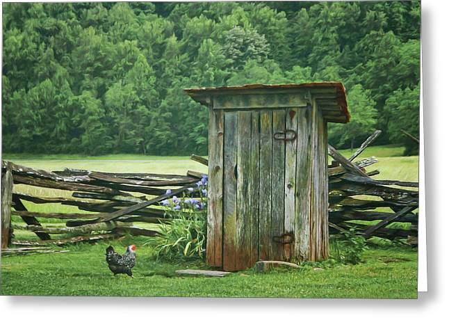 Rural Outhouse Greeting Card by Nikolyn McDonald