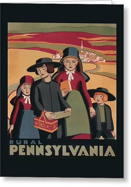 Rural Pennsylvania - Vintage Wpa Travel Greeting Card by War Is Hell Store