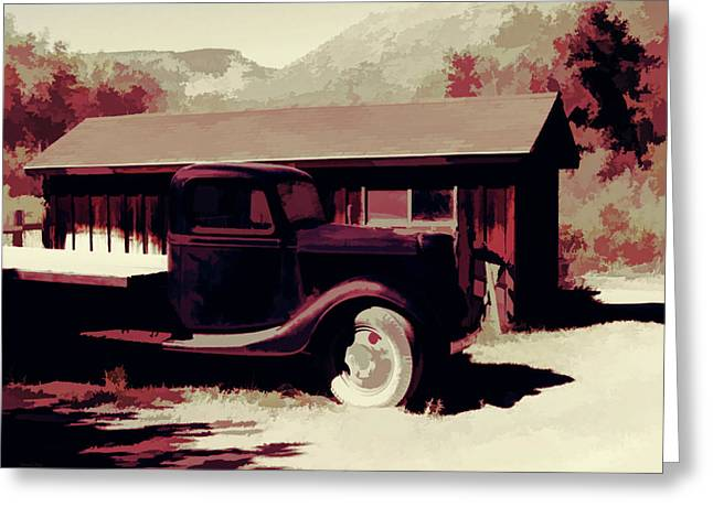Rural Pop No 9 Shed And Old Ford Truck Greeting Card