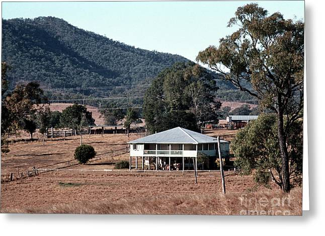 Rural Queensland Farmhouse Greeting Card by Rick Piper Photography