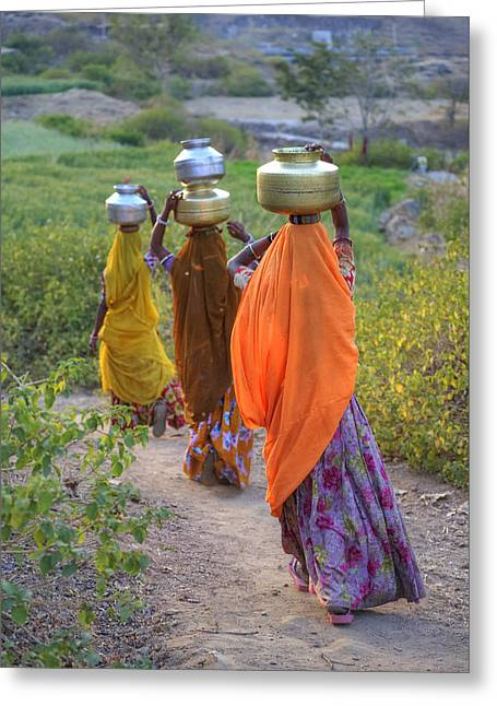 rural Rajasthan Greeting Card by Joana Kruse