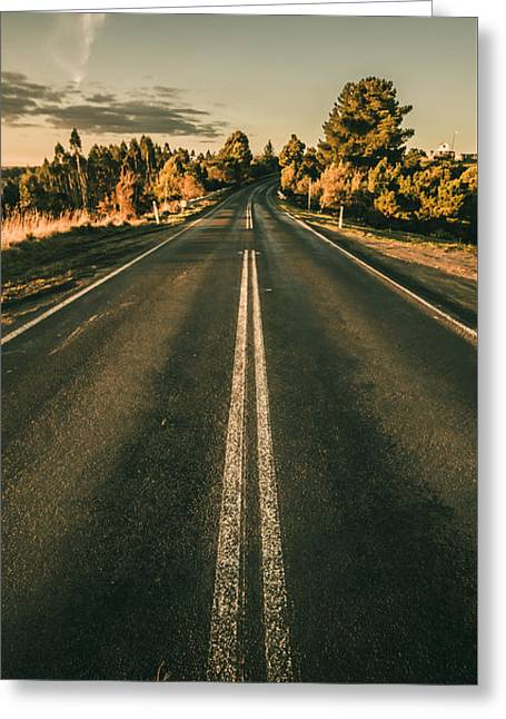 Rural Road In Gellibrand Lower Greeting Card by Jorgo Photography - Wall Art Gallery