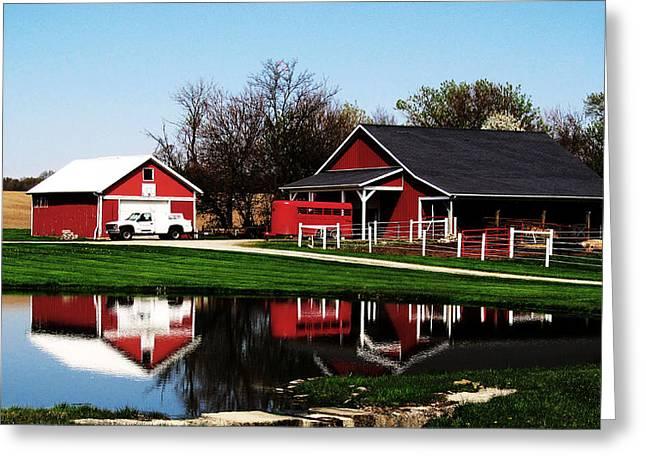 Rural Serenity Greeting Card