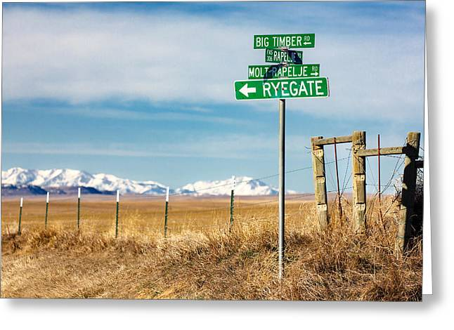 Rural Sign Post Greeting Card by Todd Klassy
