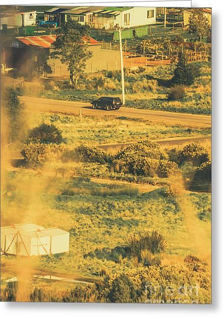 Rural Tasmania Landscape At Summer Greeting Card