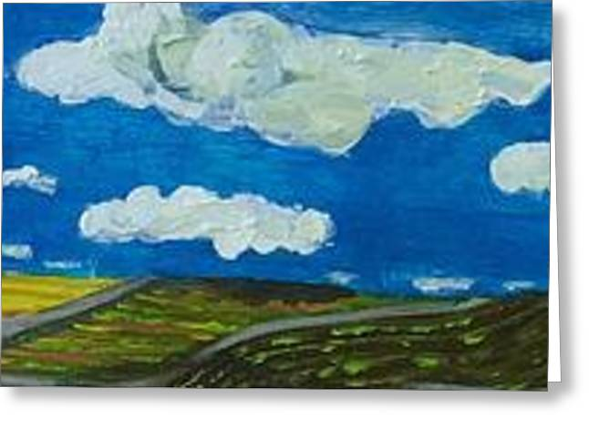 Greeting Card featuring the painting Rural View by Jame hayes