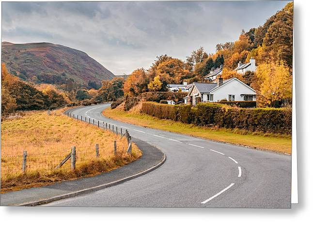Rural Wales In Autumn Greeting Card