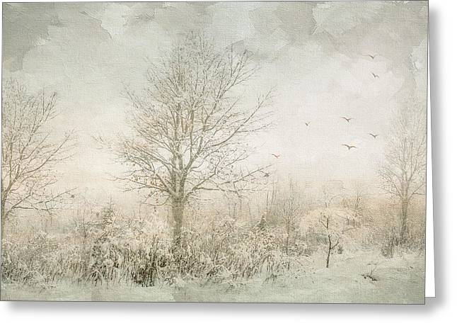 Rural Winter Landscape Greeting Card by Julie Palencia