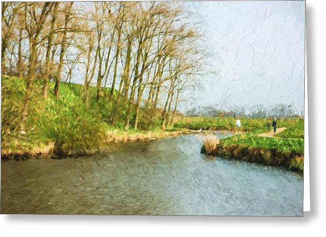 Rural Winter Landscape - Painterly Greeting Card