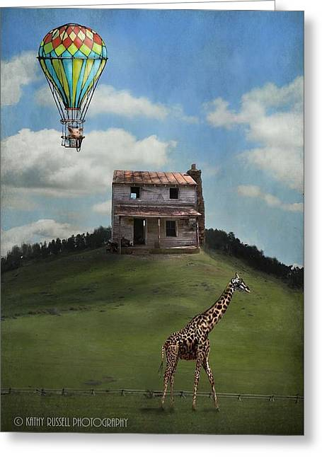 Rural World Greeting Card by Kathy Russell