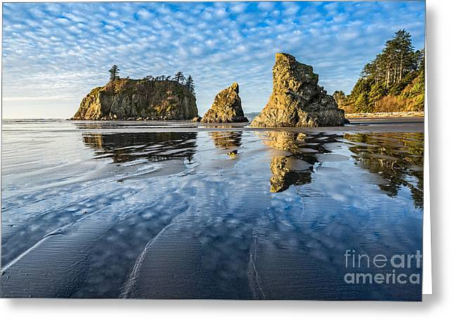 Ruby Beach Reflection Greeting Card