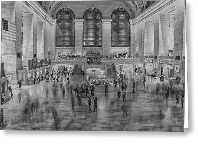 Rush Hour Grand Central St Greeting Card