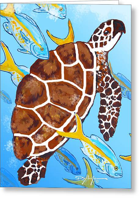 Snapper Paintings Greeting Cards - Rush Hour Greeting Card by William Depaula