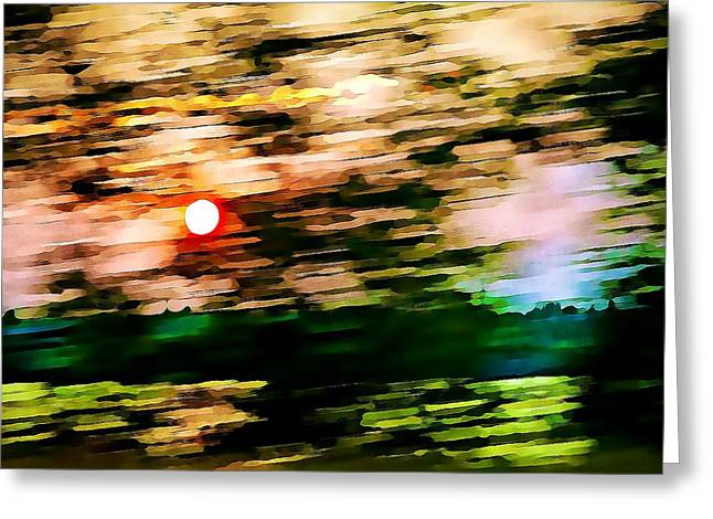 Rush To Go Home Greeting Card