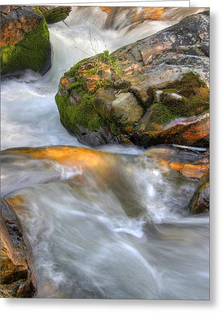 Rushing Water 2 Greeting Card by Douglas Pulsipher