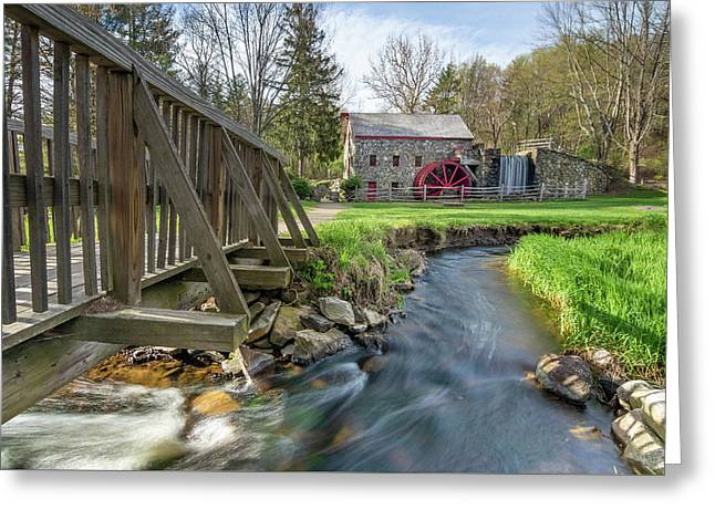 Rushing Water At The Grist Mill Greeting Card