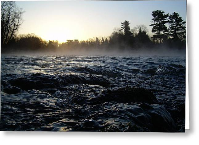 Rushing Water In Missississippi River Greeting Card by Kent Lorentzen