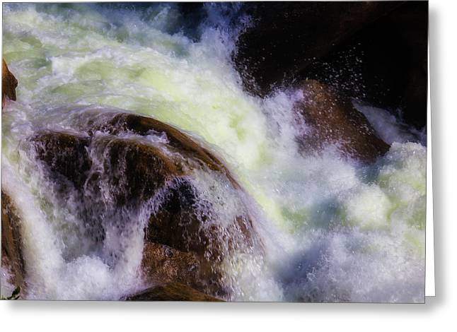 Rushing Water Merced River Greeting Card by Garry Gay