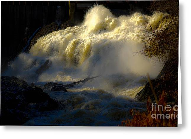 Rushing Water Greeting Card by Sherman Perry
