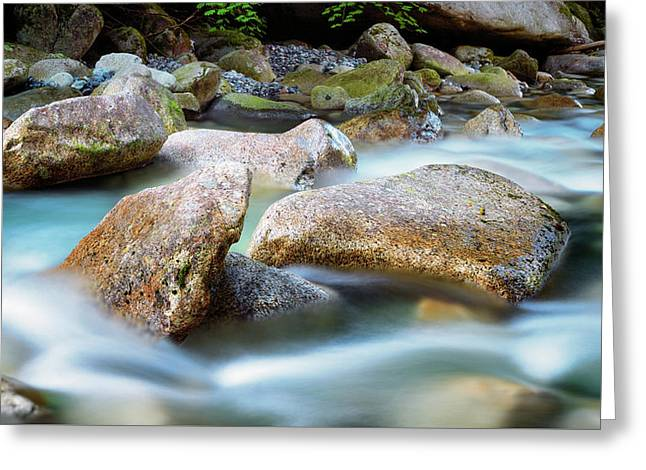 Rushing Water Greeting Card by Stephen Stookey