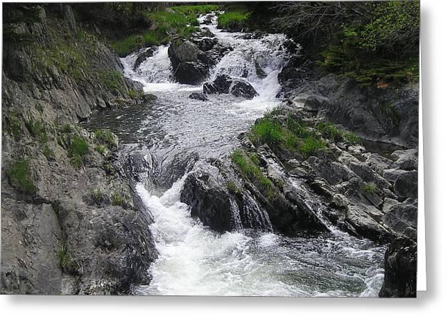 Rushing Waterfalls Greeting Card by Allison Prior