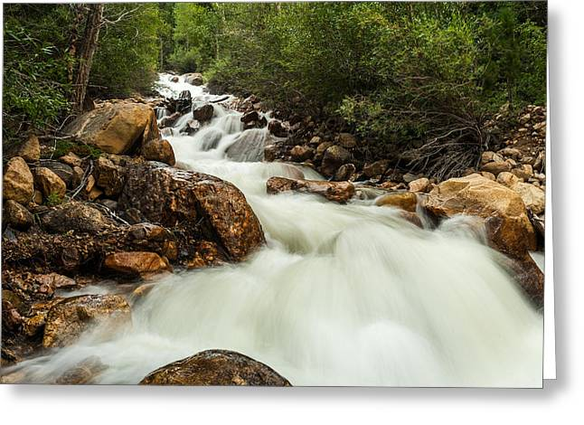 Rushing Waters-colorado Greeting Card by TL  Mair