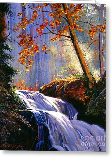 Rushing Waters Greeting Card by David Lloyd Glover