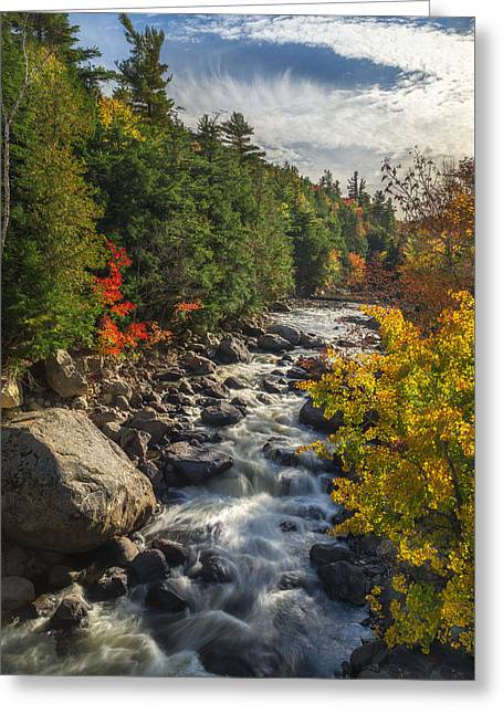 Rushing Waters Greeting Card by Mark Papke