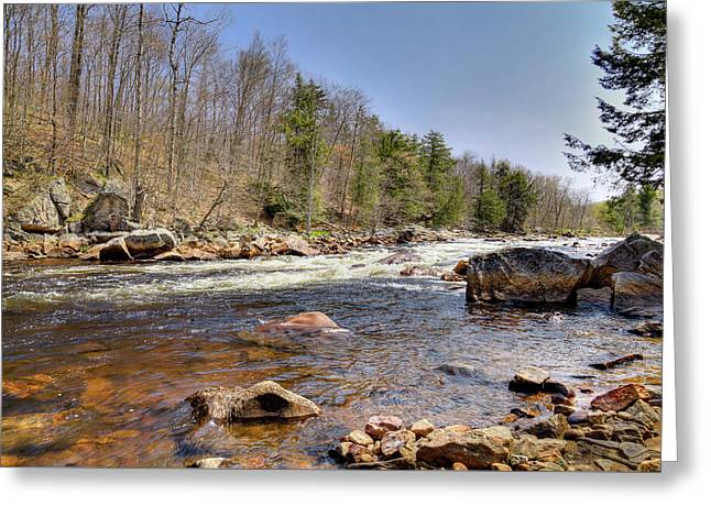 Greeting Card featuring the photograph Rushing Waters Of The Moose River by David Patterson