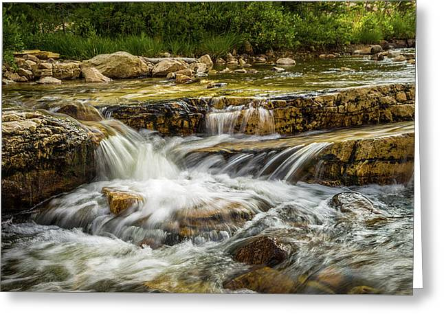 Rushing Waters - Upper Provo River Greeting Card by TL Mair