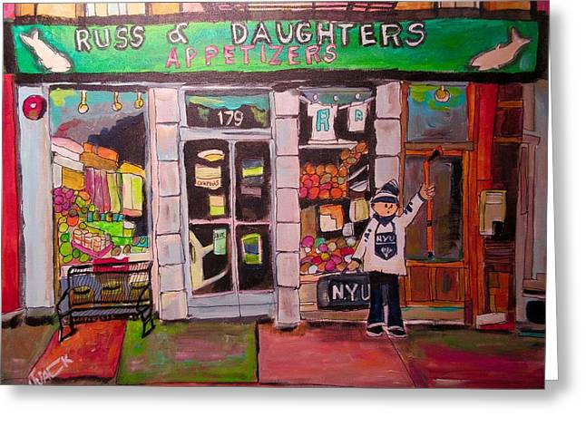 Russ And Daughters New York Greeting Card