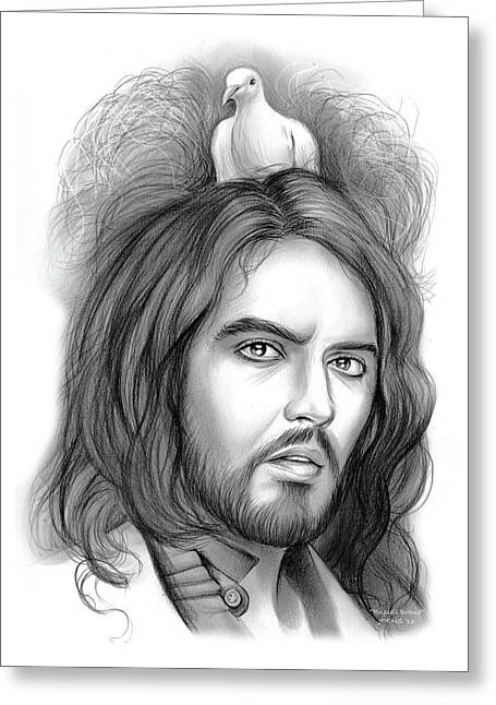 Russell Brand Greeting Card by Greg Joens