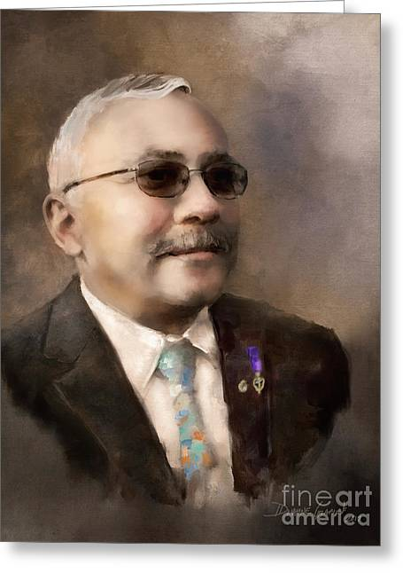 Greeting Card featuring the digital art Russell G. by Dwayne Glapion