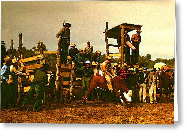 Russell Lee's Rodeo Greeting Card