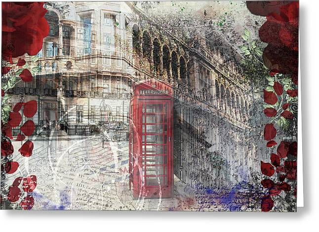 Russell Square Greeting Card by Nicky Jameson