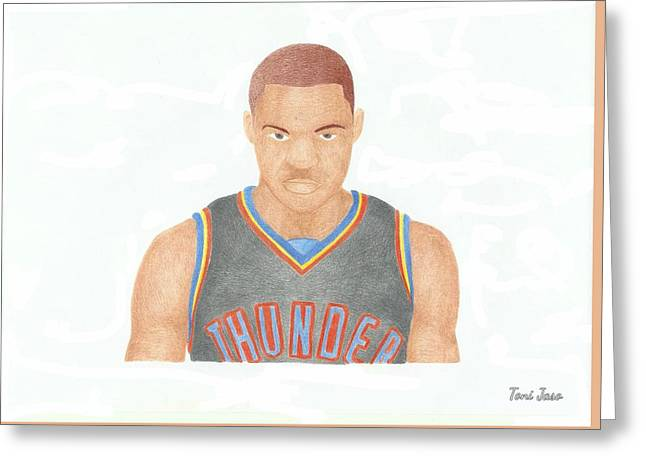 Russell Westbrook  Greeting Card by Toni Jaso