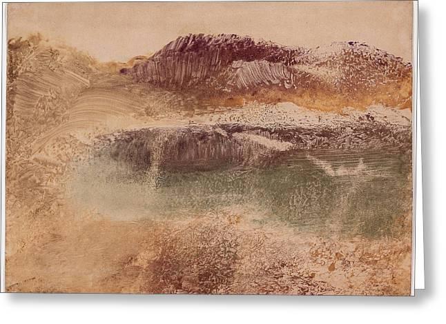 Russet Landscape 1890 Greeting Card by Edgar Degas