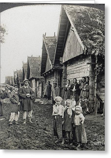 Russia: Peasants Greeting Card by Granger