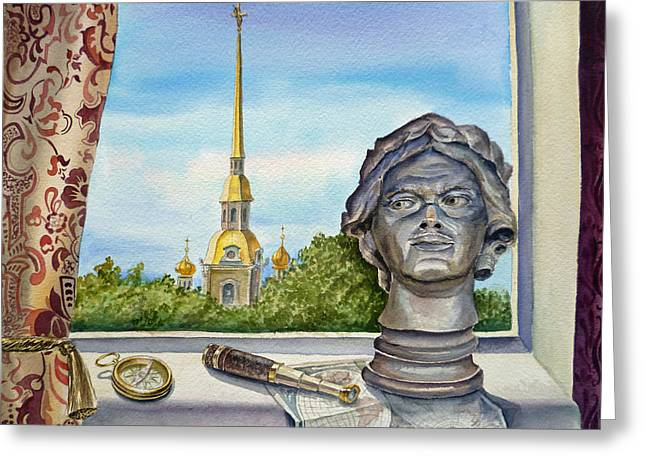 Russia Saint Petersburg Greeting Card by Irina Sztukowski