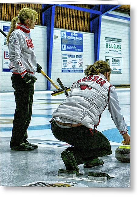 Curling Greeting Cards - Russia Tattoo Greeting Card by Lawrence Christopher
