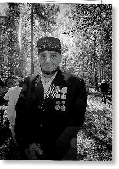 Greeting Card featuring the photograph Russian Afghanistan War Veteran by John Williams