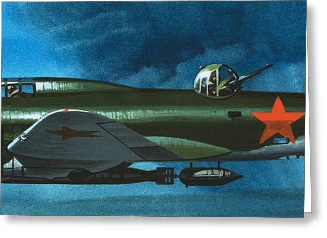 Russian Aircraft Of World War Two  Russian Ilyushin Bomber Greeting Card