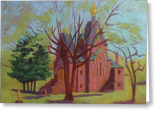 Russian Candles Church Greeting Card by Bruce Zboray