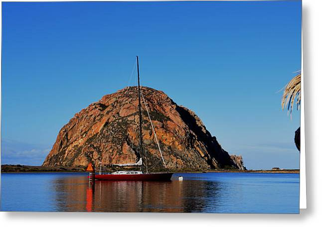 Russian Cruiser In Morro Bay Harbor Greeting Card by Barbara Snyder