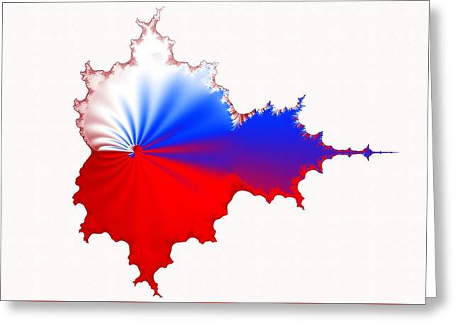 Russian Fractal Curve Greeting Card