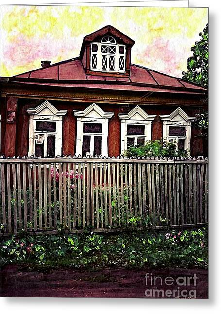 Russian House Greeting Card by Sarah Loft