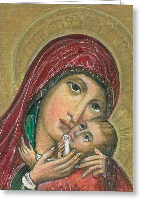 Russian Icon  Greeting Card