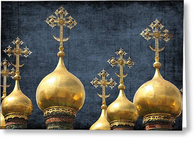 Russian Icons Greeting Card